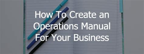 how to create an operations manual for your business 3bug