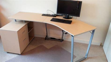 realspace brent dog leg desk oak moving sale bedroom dining homeoffice furniture