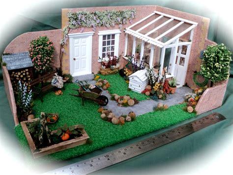 dolls house gardens dolls house miniatures 1 24th or half inch garden room box