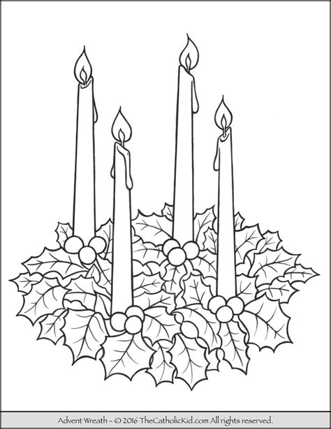 coloring page of advent wreath 17 best images about catholic coloring pages for kids on