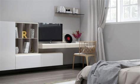 tv dans chambre meuble tv moderne 30 designs uniques et conseils