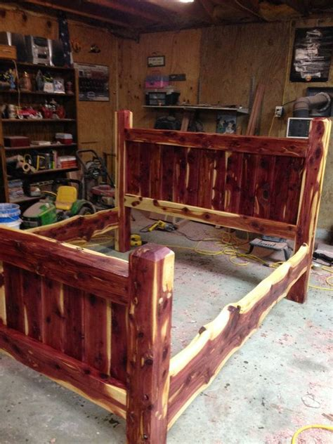 cedar bed frame best 25 log bed frame ideas on pinterest