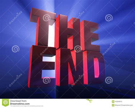 blue ending dramatic end stock illustration image 42394913