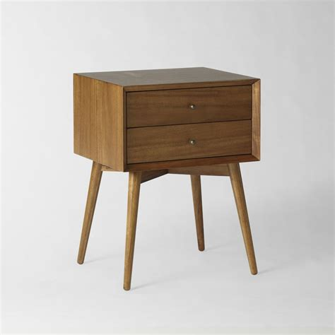 bed side table mid century bedside table acorn west elm uk