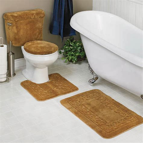 5 piece bathroom rug set 5 piece scroll bath rug set gallery