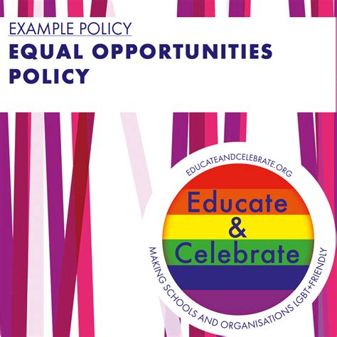 exemplar equal opportunities policy educate celebrate