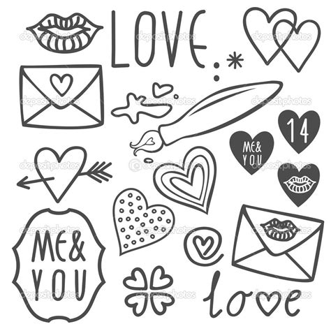 doodle simple drawing easy valentines day drawings zentangle patterns