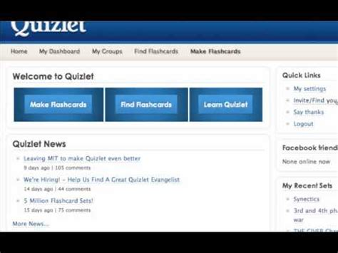 quizlet tutorial video quizlet com tutorial youtube