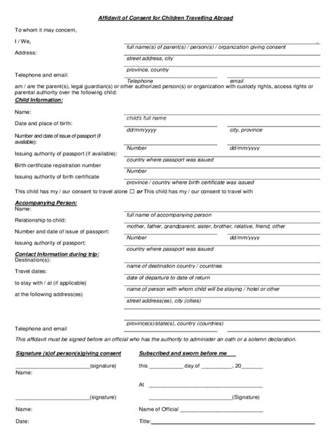 Parents Letter Of Consent For Scholarship Travel Consent Form 2 Free Templates In Pdf Word Excel