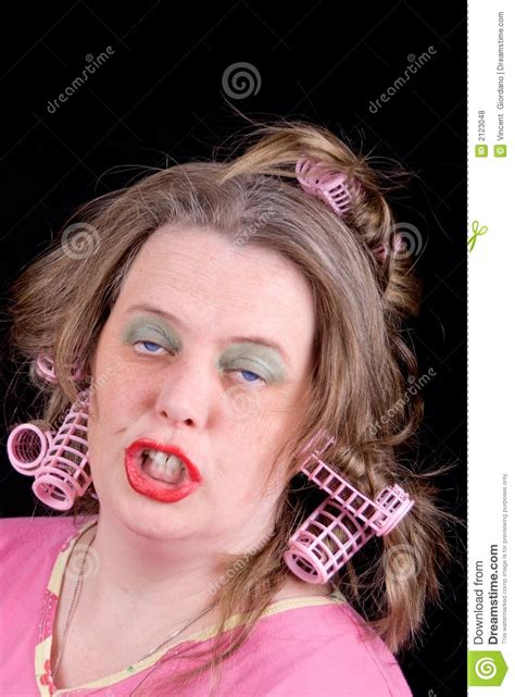 women in hair rollers woman in hair curlers stock photo image of excitement