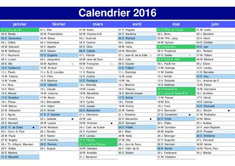 Calendrier 2016 Francais Calendrier 233 E 2016 En Fran 231 Ais Avec Les Jours F 233 Ri 233 S