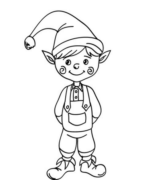 Printable Elf Coloring Picture | free printable elf coloring pages for kids