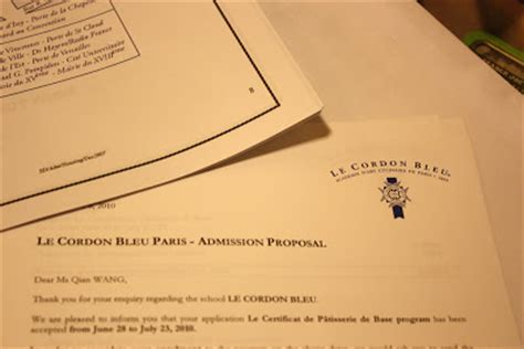 Seattle Acceptance Letter In Seattle Le Cordon Bleu