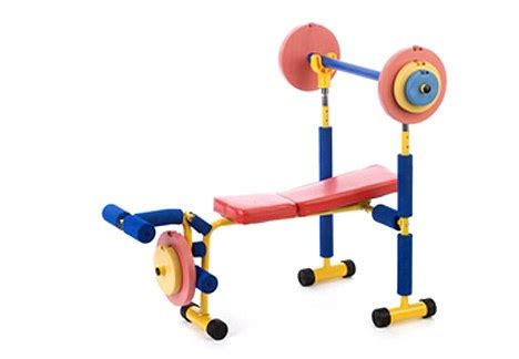 kids workout bench anger of health experts over weightlifting kit for
