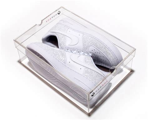 see through sneaker boxes hupbox the clear shoebox sidewalk hustle