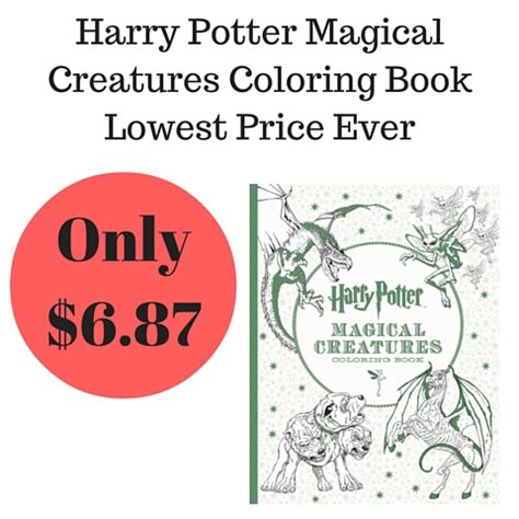 harry potter coloring book filled in coloring book harry potter magical creatures
