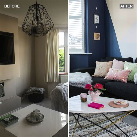 living room makeover before and after see how this bland living room has been transformed
