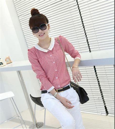 Pakaian Cewek Terbaru Harajuku Blouse Murah model kemeja terbaru trend kemeja 2013