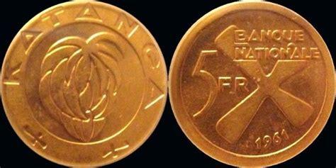 Koin Koleksi Katanga 1 5 Francs 1961 2 Bronze Coins Set congo copper centimes katanga gold 5 franc and bronze 1 5 franc pieces collectors universe