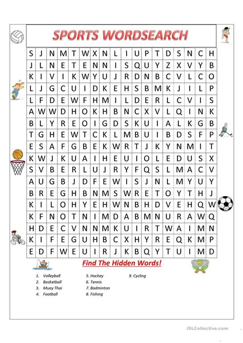free printable volleyball word search sports wordsearch worksheet free esl printable