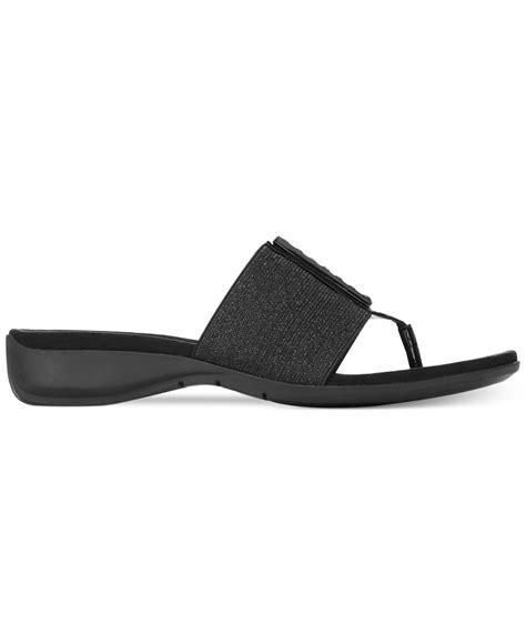 ak sandals lyst klein ak knohow sport sandals in black