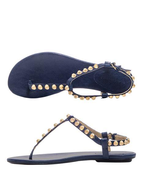 flat studded shoes balenciaga arena studded flat sandals wacoz