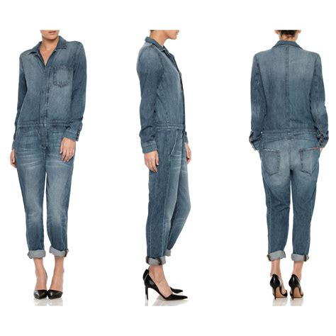 Denim Jumpsuit Premium relaxed jumpsuit shop designer clothes premium denim