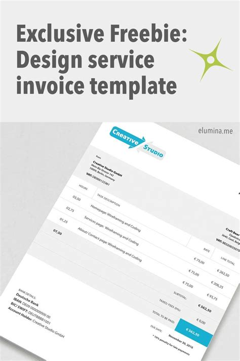 design agency invoice 17 best ideas about invoice template on pinterest