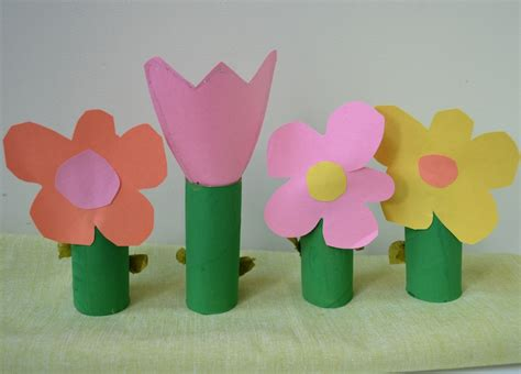 Toilet Paper Roll Flowers Craft - 6 flower inspired arts and crafts projects to welcome