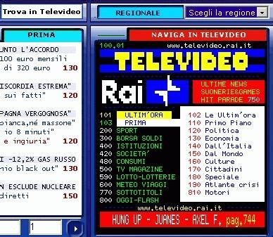 televideo it testo televideo web