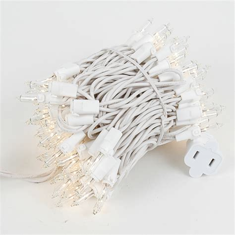 Christmas Mini Lights Sets 100 Light White Wire 2 5 Quot Spacing White Wire Mini Lights