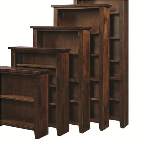 dg3472 tob aspen home furniture bookcase 74inh tobacco