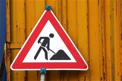 Baustellenschild Fehlt by Vorsicht Baustelle Neues Design Ab Heute In Arbeit