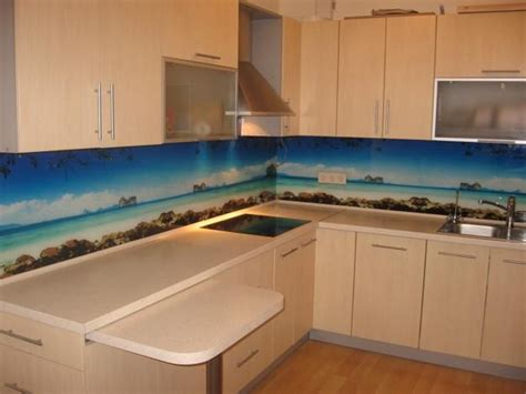 glass backsplash ideas for kitchens colorful glass backsplash ideas adding digital prints to