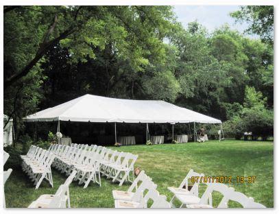 outdoor wedding tent rental chicago, rent wedding tents