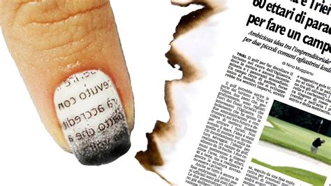 tutorial nail art giornale nail art tutorial giornale bruciato burnt newspaper