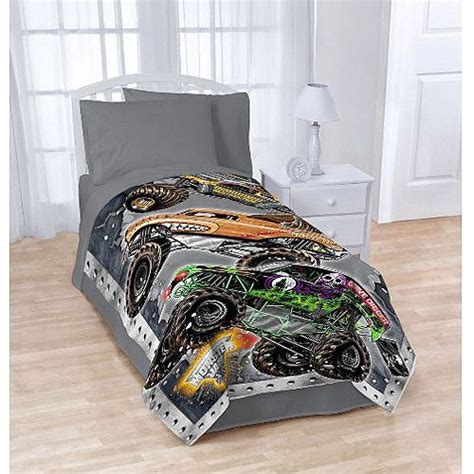 monster truck comforter monster jam blanket trucks grave digger cars boys bedding