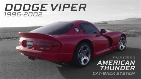 dodge viper exhaust 1996 2002 dodge viper gts performance exhaust system kit