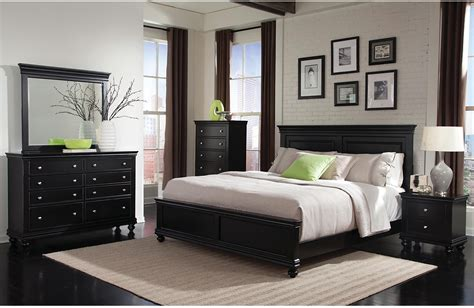 bedroom furnitur bridgeport 5 piece queen bedroom set black the brick