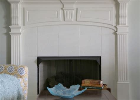 Painting Ceramic Tile Fireplace by Painting Ceramic Tile And Textured Ceilings Allison S