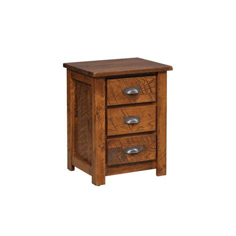 Rustic Post Panel Nightstand   Amish Crafted Furniture
