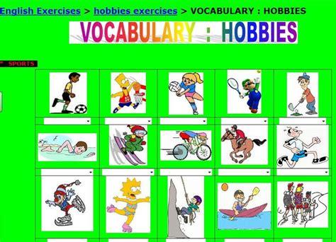 imagenes de hobbies en ingles rabadeira in english hobbies