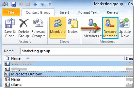 how to edit contact group/distribution list in outlook?