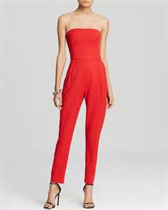 Black halo jumpsuit iris strapless for women aoope