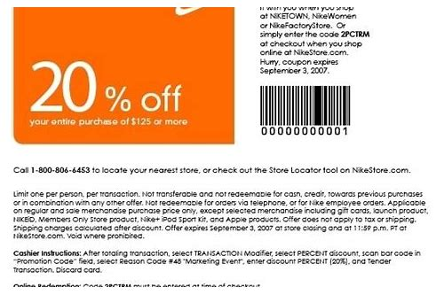 nike store coupons january 2018