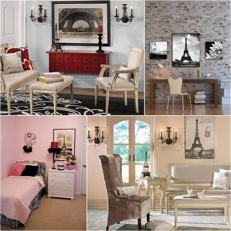 themed home decor modern paris room decor ideas