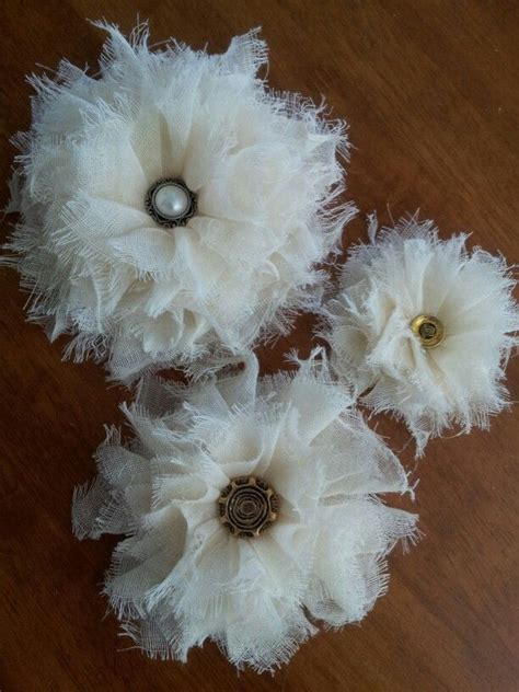 shabby chic flowers made with cheesecloth shabby chic