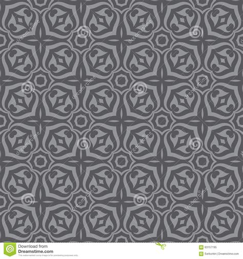 decorative wallpaper geometric background seamless vector pattern in gray