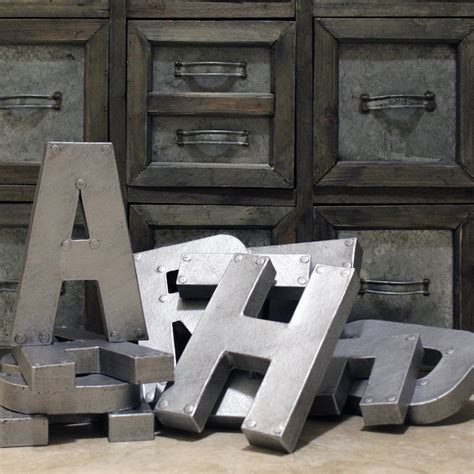 metal letter industrial zinc faux metal letters and numbers 8 or