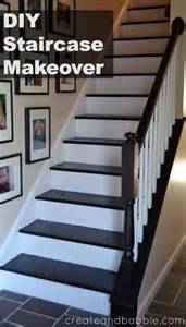 Staircase Update Ideas Staircase Makeover Create And Babble